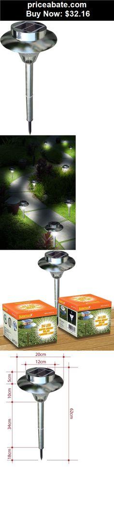 Farm Garden: 24 Outdoor Garden Stainless Steel LED Solar Path Landscape  Light Lamp NEW   BUY IT NOW ONLY $41.9 | Farm And Garden | Pinterest |  Jardines, ...