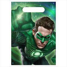 Green Lantern Favor Bags