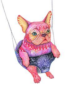 Eule the magic bulldog by Ola Liola