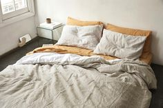 grey stripe and white duvet cover