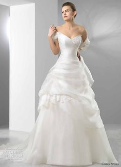 Cotin Sposa Wedding Dress 2011 bridal collection - A-line wedding gown with one-shoulder asymmetric sweetheart neckline and gathered skirt