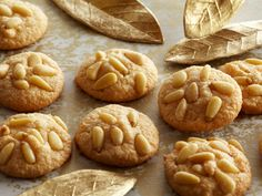 Pignoli Cookies recipe from Anne Burrell. Note:  Use 2 8-oz cans almond paste and 1.5 cups 10x sugar.
