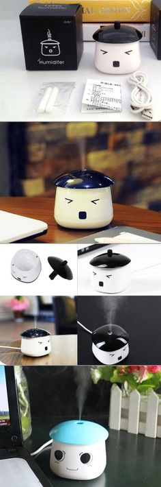 Clean the air around your work station with the cutest humidifier we have found yet! This little guy can not only get rid of the dust floating around, he can also add much needed moisture to your air this season! With a compact design and USB charger he may be the most useful item on your desk!
