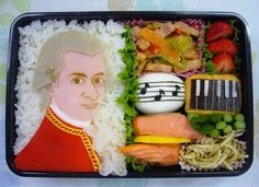 There's no better way to perk up your day than to have a lunch that's both exciting to look at and nutritious, like this amazing Mozart bento box.