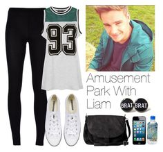 """Amusement park with Liam"" by lovatic92 ❤ liked on Polyvore featuring MM6 Maison Margiela, Payne, Topshop, Converse, Pieces, OneDirection, LiamPayne, directioner and onedirectionoutfits"