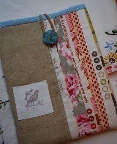 erleperle: zakka combo burlap and cotton prints