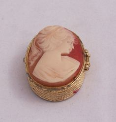 Vintage Cameo Box Cameo Tiny Trinket/Jewelry by thesecretcupboard, $10.00