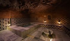Sala fría, baños árabes Hamman. #Granada