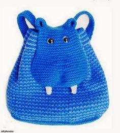 Bebe Çoçuk Son Moda Örgüler: Hayvan Bebe Çocuk Çanta Örgüleri