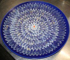 """Japanese food """"Tessa"""" """"Hugusasi""""  Plate of fugu sashimi"""