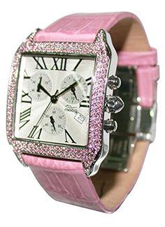 Moog Paris-Think Different Damen-Armbanduhr Zifferblatt silber Armband Rosa Leder Rindleder, hergestellt in Frankreich-m44272F-005 - http://uhr.haus/moog-paris/moog-paris-think-different-damen-armbanduhr-rosa