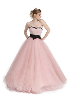 Robe de bal Hannah Girly, Satin, Ball Gowns, Formal Dresses, Fashion, Pink Evening Dress, Bustier Dress, Gowns, Princess