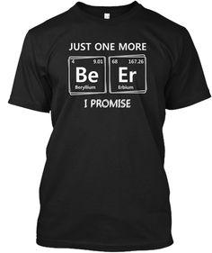 Funny Chemistry Elements Black T-Shirt Front Chemistry Shirts, Funny Chemistry, Element T Shirt, Just For You, Tees, Gift, Mens Tops, Black, T Shirts