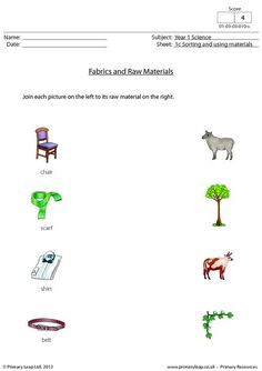 20 Best Year 1 Science Images Worksheets Science Properties Of Materials