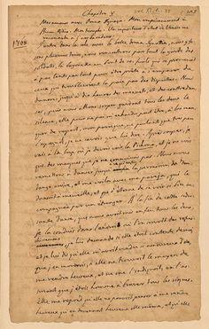 """Giacomo Casanova, Histoire de ma vie, manuscrit, chapitre V: """"Mes amours avec Donna Ignazia…"""" (danser le fandango), 1789-1798, BnF, Département des Manuscrits, cote NAF 28604 (9) - fol. 77."""
