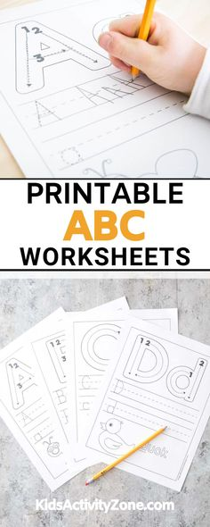 If you are introducing your child to writing their letters these free printable ABC worksheets are the perfect tool for you. Letter recognition is an important part of learning the alphabet. This activity is not only great for letter recognition, but it's also helps children with their fin motor skills and penmanship skills.