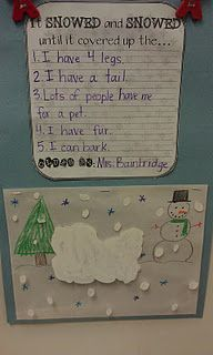 Dream Snow Prediction Activity:  Here are my clues and my snow covered animal... can you predict what might be under the snow?