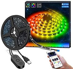 Dreamcolor Led Strip Lights With App, Govee Usb Light Strip Built-In Digital Ic, 5050 Rgb Strip Lights, Color Changing With Music Waterproof Led Strip 5m, Rgb Led Strip Lights, Led Light Strips, Led String Lights, Bar Lighting, Strip Lighting, Led Profil, Led Band, Tv Backlight