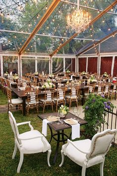 This tented reception setup = wow!!!