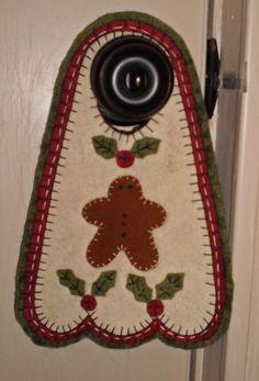 Image detail for -INSTANT DOWNLOAD E PATTERN Penny Rug GINGER BOY Door Knob Hanger