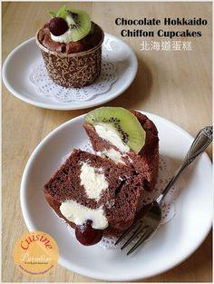Chocolate Hokkaido Chiffon Cupcakes
