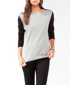 Lace Applique Contrast Sweater