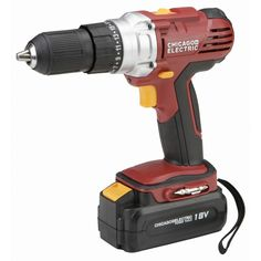 """Chicago Electric Power Tools 68850 18 Volt Cordless 1/2"""" Drill/Driver with Keyless Chuck"""