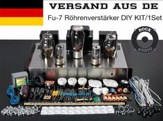 175.50$  Buy now - http://aliqla.worldwells.pw/go.php?t=2001113317 - Douk Audio 6N8P+FU7 Class A Single Ended Home Audio Power Tube Amplifier HiFi Valve Stereo Integrated Amp  DIY KIT  175.50$