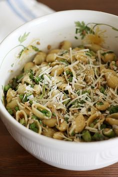 Pasta with Peas Smoked Almonds and Dill | Food - Salads...(lettuce be ...
