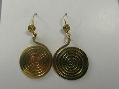 "Spiralohrringe ""espiral de la vida""Bronze von LaSombrilla auf DaWanda.com"