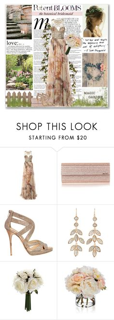 """""""The Botanical Bridesmaid"""" by coeurdcoeurs7 ❤ liked on Polyvore featuring Whiteley, Marchesa, Jimmy Choo, Irene Neuwirth and Diane James"""