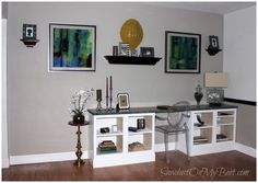 Built-In Desk from simple base cabinet plans at Ana-White.com