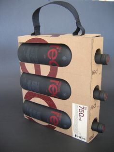 #wine carrier #bag. Great #packaging.