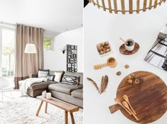 Styling & photoshoot Huber Arndt-Timmer with Mossel Naturals, wood, white/black Sweet Home, Photoshoot, Interior Design, Studio, Natural, Wood, Black, Decor, Style
