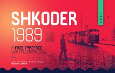 """Shkoder 1989 Free Display Typeface is a """"techy"""" and """"sporty"""" font, inspired by the It's projected to work well for print and digital /Volumes/Marketing/_MOM/Design Freebies/Free Design Resources/SHKODER 1989 FREE Vintage Fonts Free, Html Design Templates, 100 Free Fonts, Free Typeface, Brush Font, Free Design, Behance, Design Blogs, Design Ideas"""