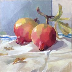 "Items similar to Myriam Kin-Yee Art Original Oil Painting - Linen - Still Life, ""Last of the Pomegranates"" on Etsy Still Life Oil Painting, Fruit Painting, Kids Class, Fruit Art, Australian Artists, Pomegranate, Oil Paintings, Watercolor, Floral"