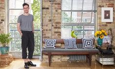 Tom Scutt at home in east London; the side table is from westelm.co.uk and the Starkey table lamp from made.com.