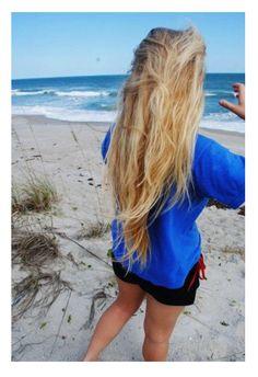 Long beachy blonde
