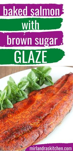 You need one amazing, easy baked salmon recipe that you can make in the oven and this is it! The glaze is amazing - so savory and delicious. Even non salmon lovers love this recipe! #easy #dinner #seafood #fallfood Oven Baked Salmon, Baked Salmon Recipes, Easy Chicken Recipes, Fish Recipes, Seafood Recipes, Healthy Recipes, Seafood Boil, Delicious Recipes, Healthy Food