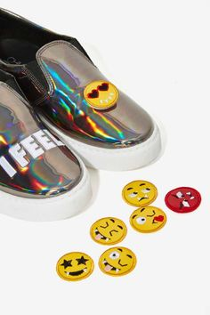 Chiara Ferragni Emoji Slip-On Sneaker - All Things Glitter | All | Slip On | Shoes