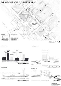 Site Analysis 4of4 BRISBANE CBD Hand drawn by Debbie Turner