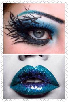 Love this one. Dark fairy. Inspirational fairy makeup idea.
