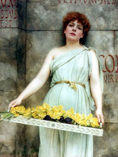"She's almost ghost-like. ""A Flower Seller"" John William Godward (1861 – 1922),"