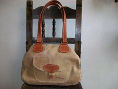 bolso de cuero#hecho a mano#beige y durazno
