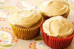 Apple-Spiced Cupcakes with Brown Sugar Cream Cheese Frosting
