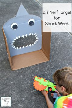 DIY Nerf Target for Shark Week - JDaniel4s Mom