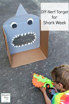 DIY Nerf Target for Shark Week - JDaniel4s Mom