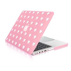 """Pink Heart Shape Design Ultra Slim Light Weight Hard Case Cover for Apple MacBook Pro 13.3"""" with Retina Display Model: A1425 and A1502"""