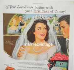 Pin Up  Bride Camay Soap Magazine Advertisment / by mamiezvintage, $12.00