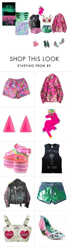 """Untitled #2384"" by momoheart ❤ liked on Polyvore featuring Zara Home, Dolce&Gabbana, Alexis Bittar, Jeremy Scott, Au Jour Le Jour, Irregular Choice and Converse"